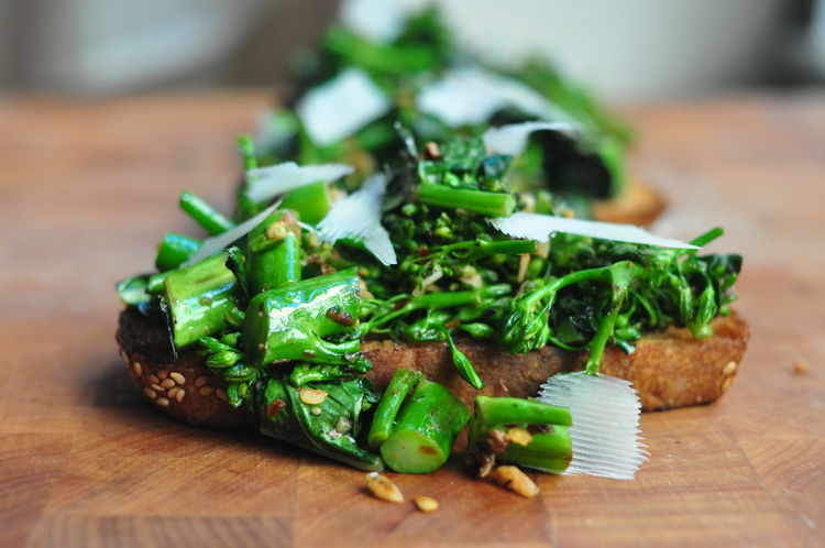 SALTY BROCCOLI TOAST - High Country Olive Oil