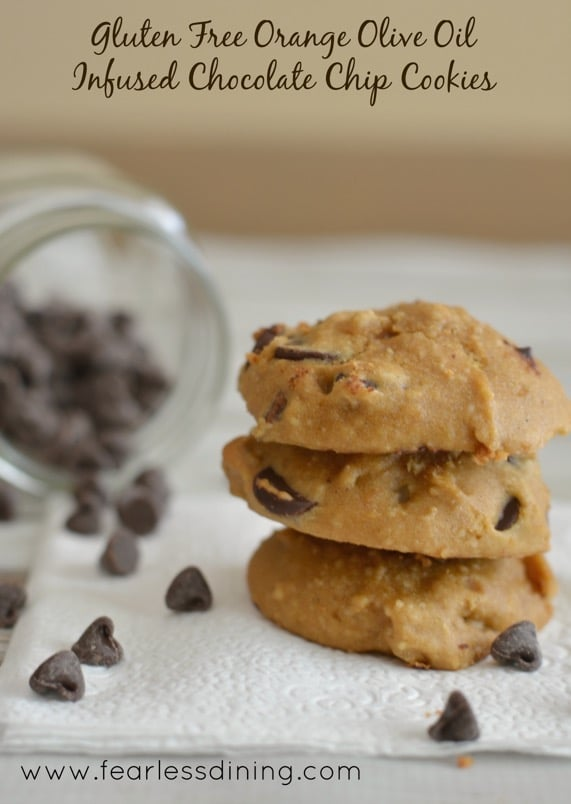Gluten Free Orange Infused Olive Oil Chocolate Chip Cookies   High Country Olive Oil