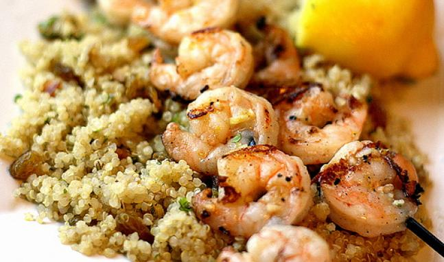 Shrimp and Quinoa | High Country Olive Oil