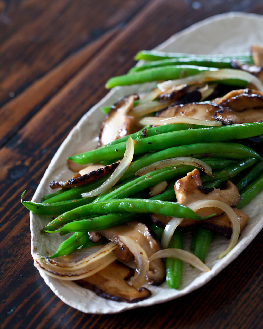 Stir Fry Recipe: Green Bean and Shiitake Mushrooms | High Country Olive Oil