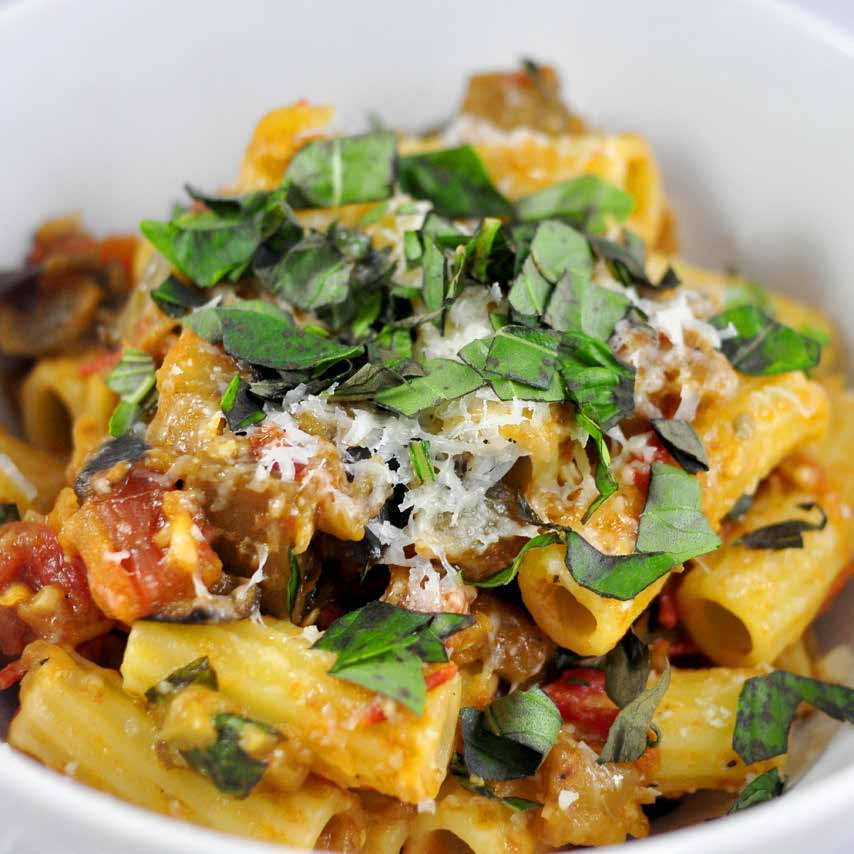 pasta-with-eggplant-and-tomato - High Country Olive Oil