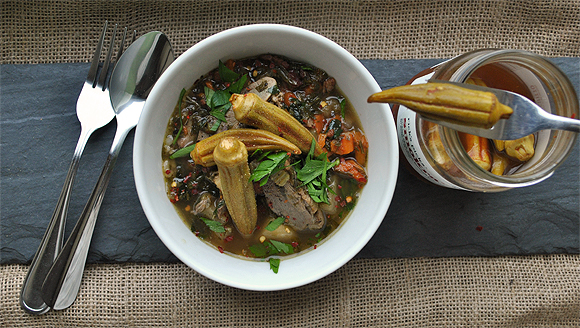 Duck and Turnip Stew with Dandelion Greens   High Country Olive Oil