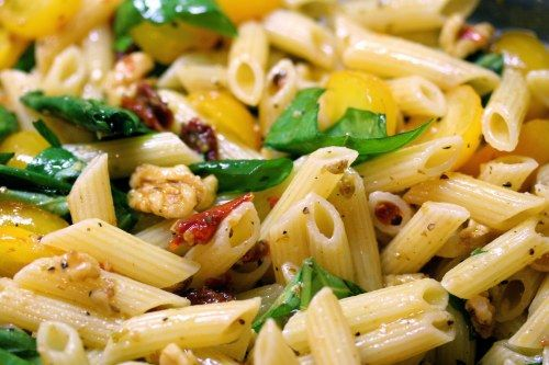 Sun-Dried Tomato And Walnut Penne Recipe | High Country Olive Oil