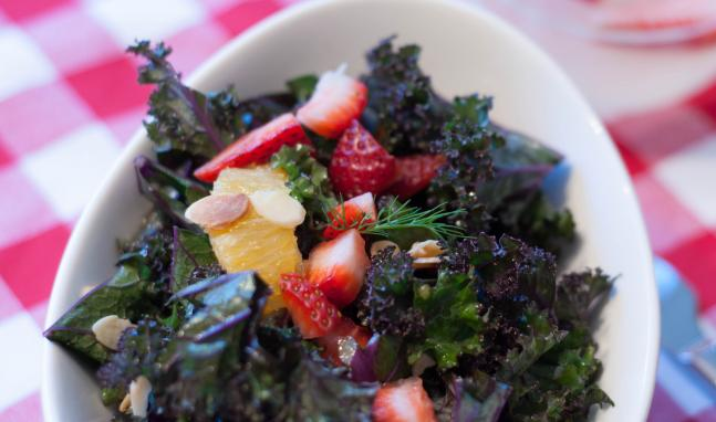 Kale, Strawberry and Orange Salad Recipe | High Country Olive Oil